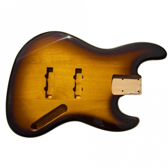 WD Music Jazz Bass Body Tobacco Sunburst (Two Tone)