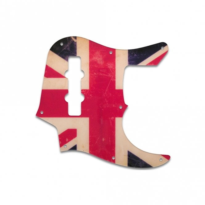 WD Music Jazz Bass Longhorn (22 Fret) - British Flag Relic
