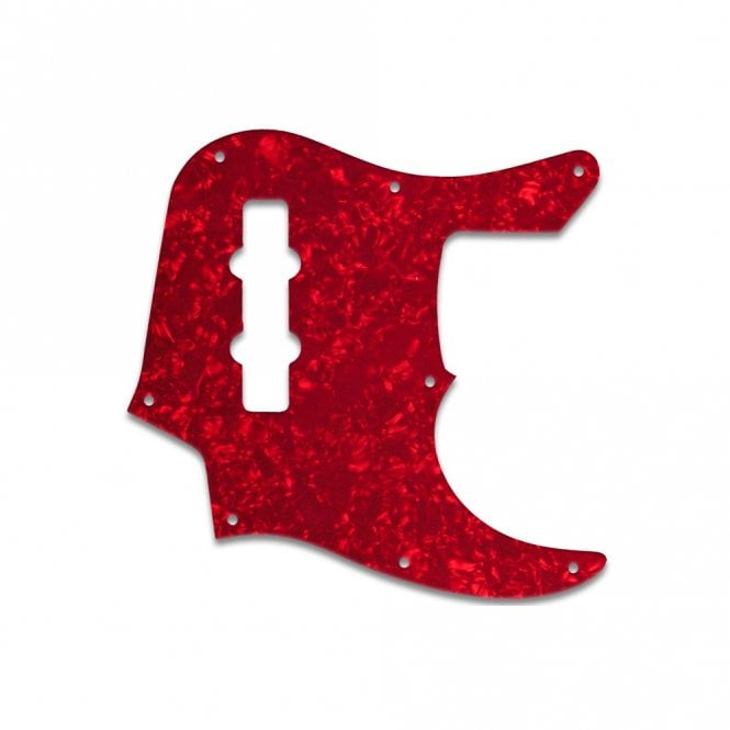 WD Music Jazz Bass Longhorn (22 Fret) - Red Pearl W/B/W Lamination