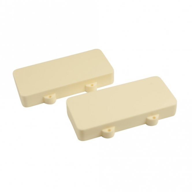 WD Music Jazzmaster Pickup Covers (Set Of 2) Aged White - No Polepiece Holes