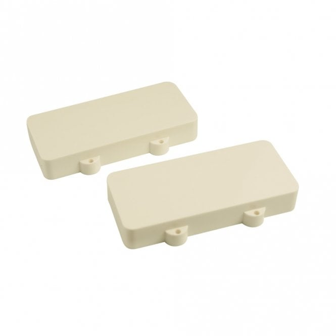 WD Music Jazzmaster Pickup Covers (Set Of 2) White - No Polepiece Holes