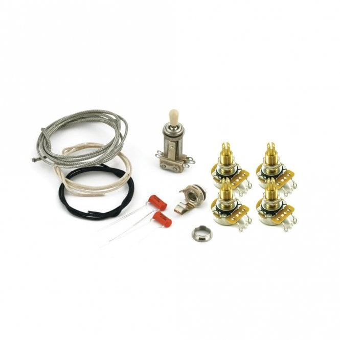 WD Music Les Paul Wiring Kit, Long Pots for standard USA production Gibson Guitars