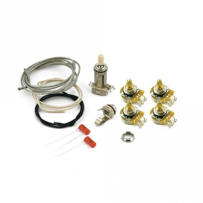 WD Music Les Paul Wiring Kit, Short Pots for Historic Custom Shop Guitars