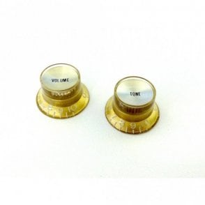 Metric Bell Knob Set (1 X Volume 1 X Tone) Gold