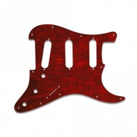 Old Style 11 Hole Strat - Tortoise Shell Red