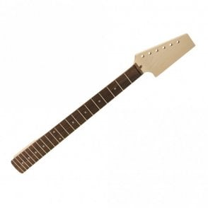 Paddle Neck Rosewood - Pre-drilled For 6 In Line Tuners - Fits Tele Neck Pocket