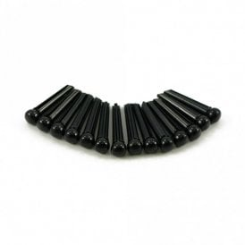 Plastic Bridge Pins Black, No Dot - Set of 50