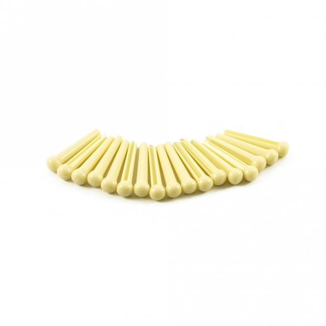 WD Music Plastic Bridge Pins Cream, No Dot - Set of 50