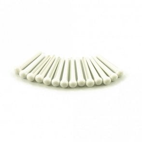 Plastic Bridge Pins White, No Dot - Set of 50