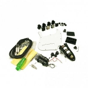 Replacement Jazz Bass Parts Kit Black