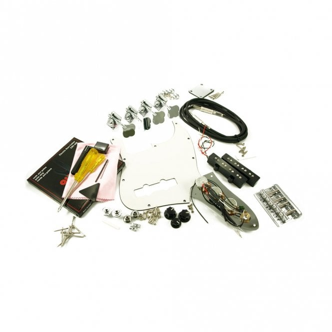 WD Music Replacement Jazz Bass Parts Kit Chrome