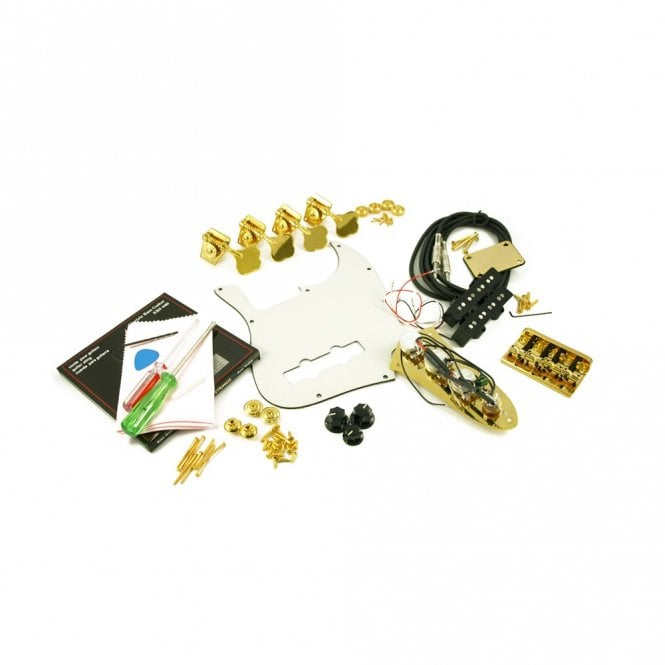 WD Music Replacement Jazz Bass Parts Kit Gold