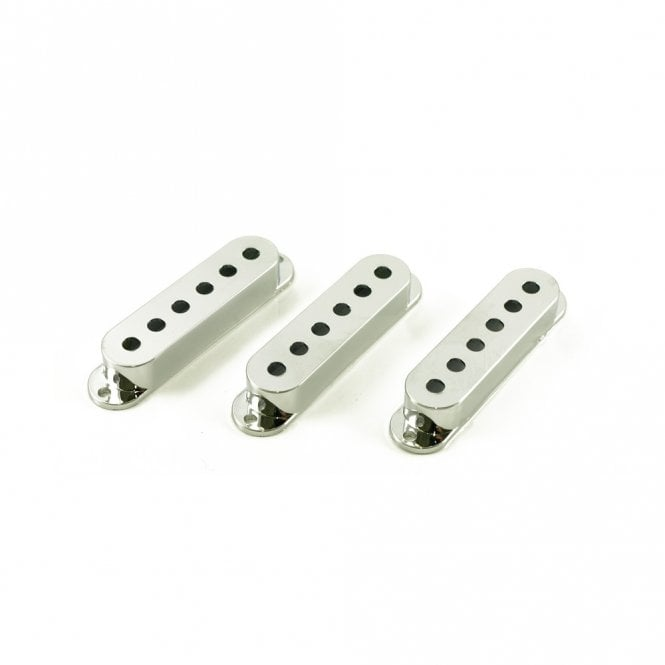 WD Music Single Coil Pickup Covers Chrome (Set of 3)
