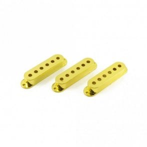 Single Coil Pickup Covers Gold (Set of 3)