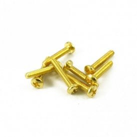 Single Coil Pickup Screw Gold (Bag of 8)