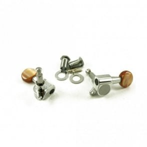 Six In Line Tuners, Brown Tortoiseshell Plastic Buttons