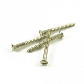 Slot Head Neck Screws Nickel (Bag of 4)