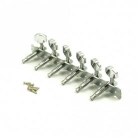 Steel String Tuners 6 On Plate All Chrome