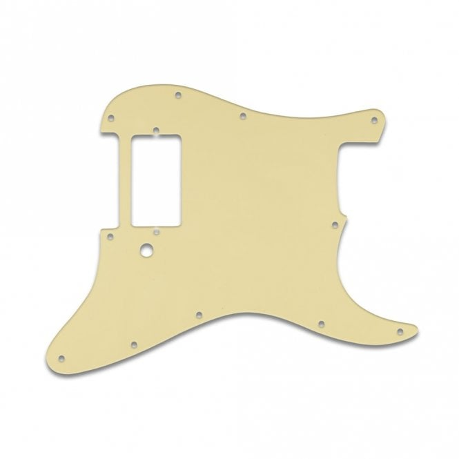 WD Music Strat 1 Humbucker Only - Cream Black Cream