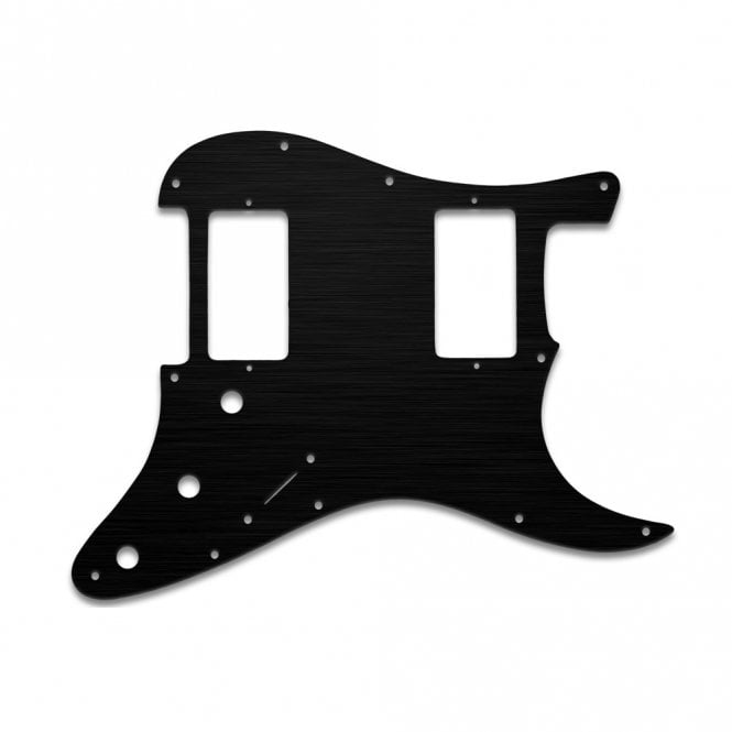WD Music Strat 2 Hums - Simulated Black Anodised Thin (no bevel)
