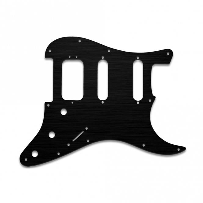 WD Music Strat American Deluxe - Black anodised (simulated)