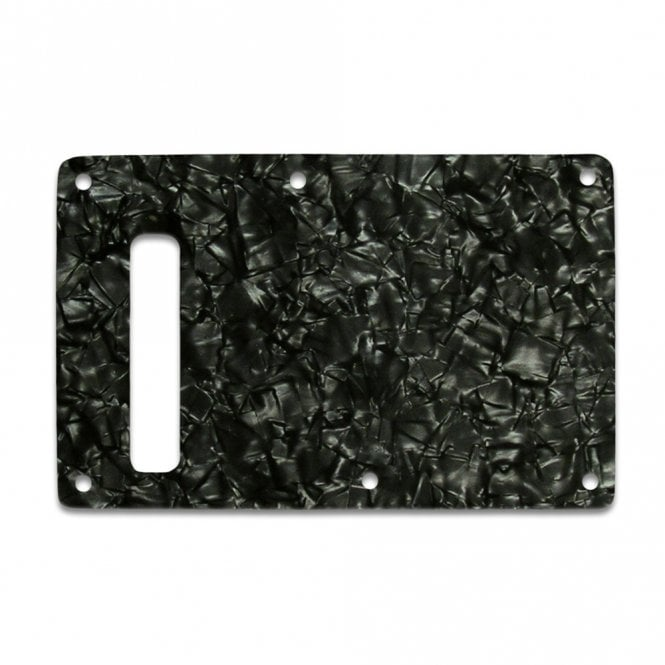 WD Music Strat Backplate - Black Pearl White/Black/White 3 ply Lamination