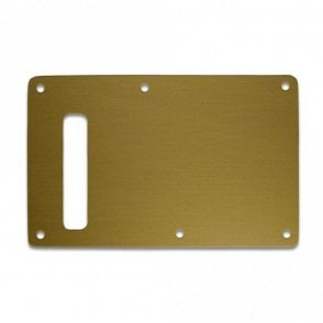 Strat Backplate - Brushed Gold