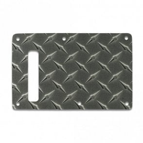 Strat Backplate - Faux Black Diamondplate