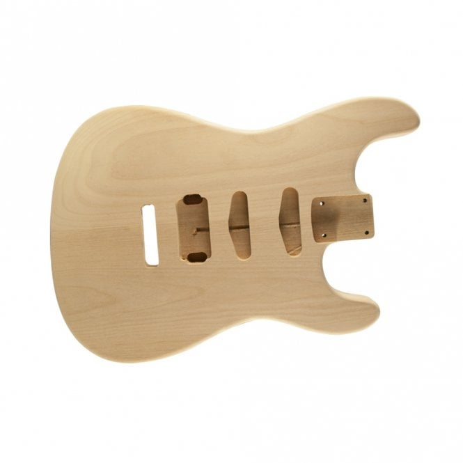 WD Music Strat body alder unfinished-HSS-rear controls