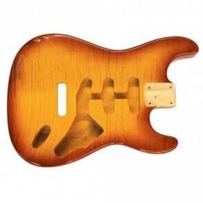 Strat Body Flame Honeyburst