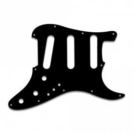 "Strat Elite - Solid Shiny Black .090"" / 2.29mm thick, with bevelled edge"
