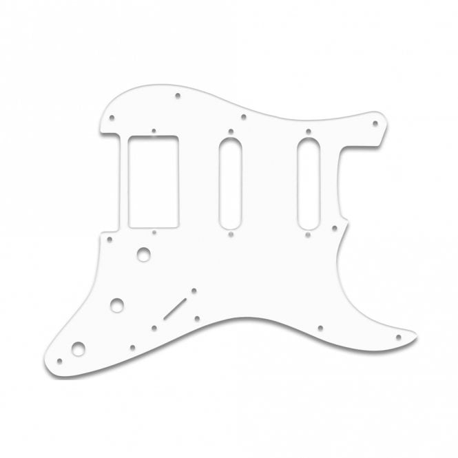 "WD Music Strat Humbucker Single Single - Thin Shiny White .060"" / 1.52mm Thickness, No Bevelled Edge"