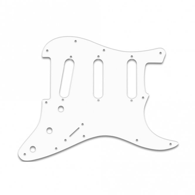 "WD Music Strat - Solid Shiny White .090"" / 2.29mm thick, with bevelled edge"
