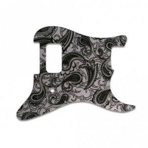 Strat Tom Delonge - Black/Silver Paisley