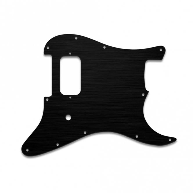 WD Music Strat Tom Delonge - Simulated Black Anodised Thin (no bevel)