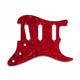 Strat Voodoo - Red Pearl White/Black/White 3 ply Lamination