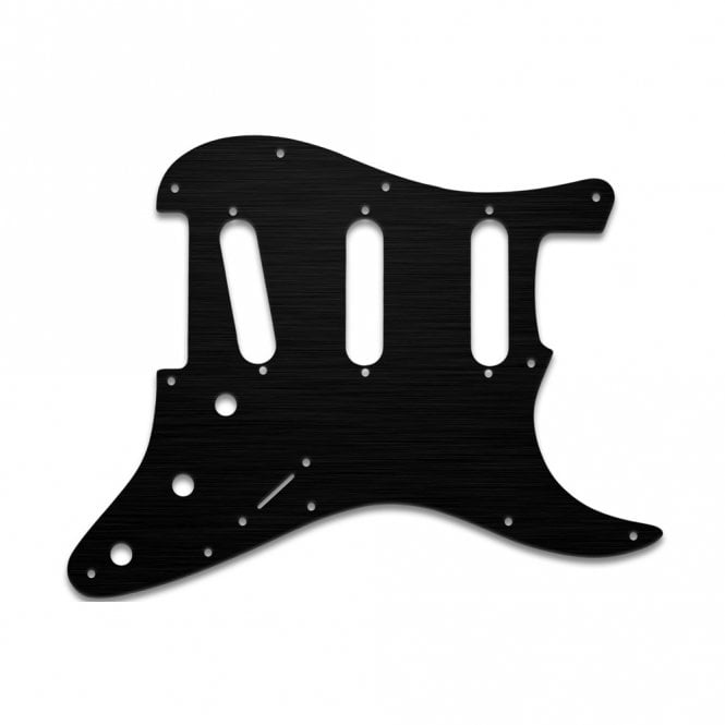 WD Music Strat Voodoo - Simulated Black Anodised Thin (no bevel)