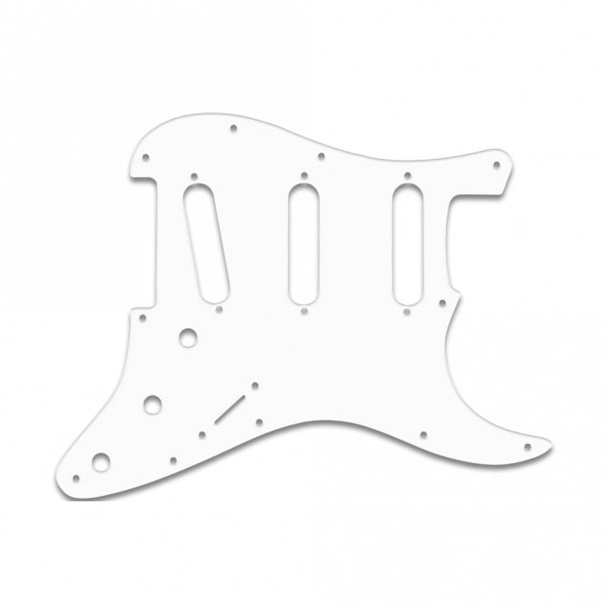 "WD Music Strat Voodoo - Solid Shiny White .090"" / 2.29mm thick, with bevelled edge"