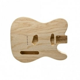 Telecaster Body Unfinished Swamp Ash Lightweight 1 Piece