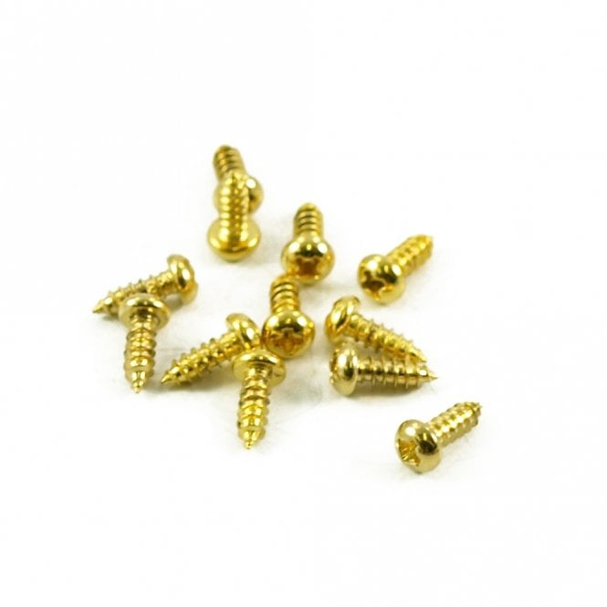WD Music Truss Rod Cover Screws Gold (Set of 3)