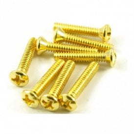 Vintage Single Coil Pickup Screw Gold (Bag of 8)