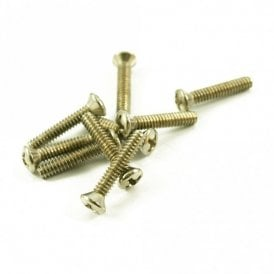 Vintage Single Coil Pickup Screw Nickel (Bag of 8)