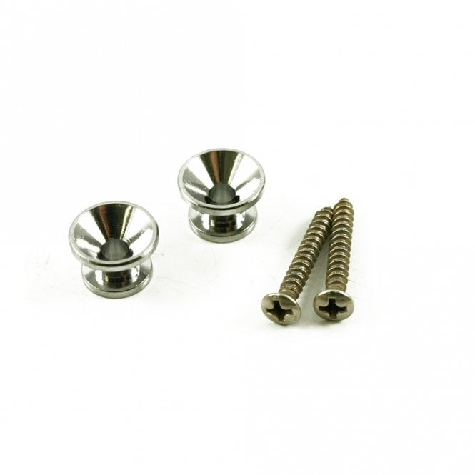 WD Music Vintage Strap Buttons With Screws (Two buttons and two screws)